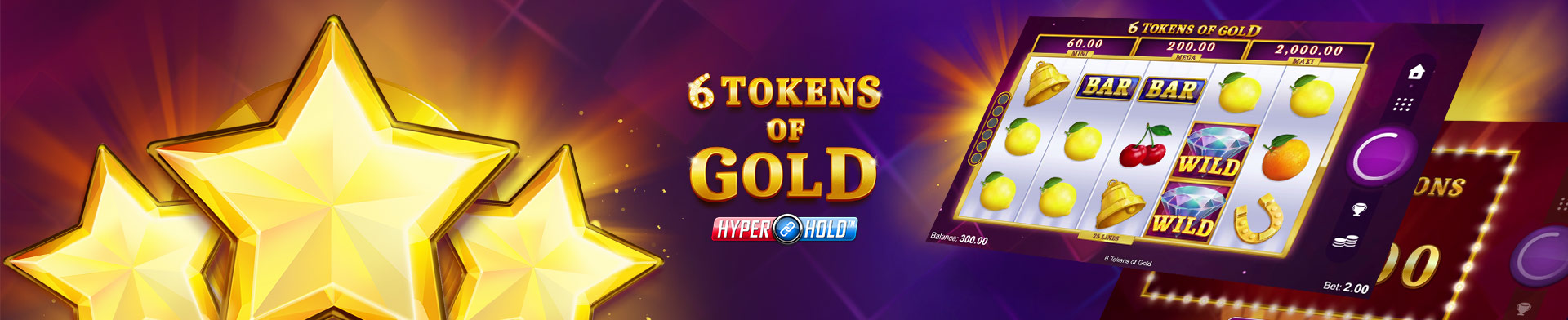 6 Tokens Of Gold Banner