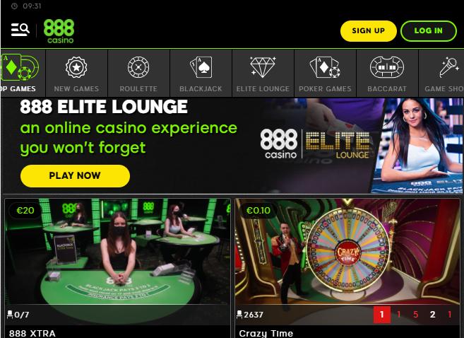 888Live Casino Image 1
