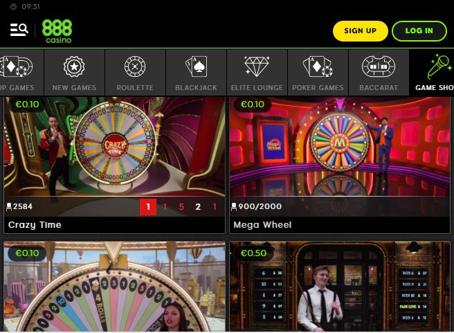 888Live Casino Image 3