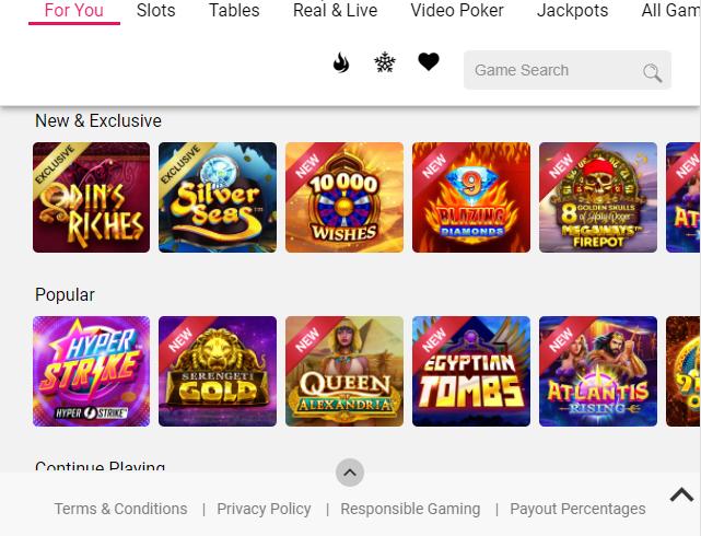 Spin Casino Image 1